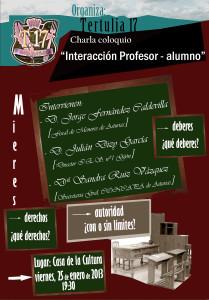 Cartel-Interacción Profesor alumno-2013