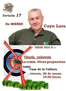 Cartel-la crisis, otras propuestas-cayo Lara