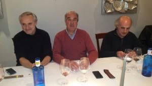 Ángel Villa, Juan y Jesús (Chus), tres tertulianos a la mesa