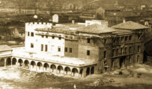 Reconstrución del palacio hacía 1944