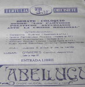 cartel-Los partidos politicos Asturianos